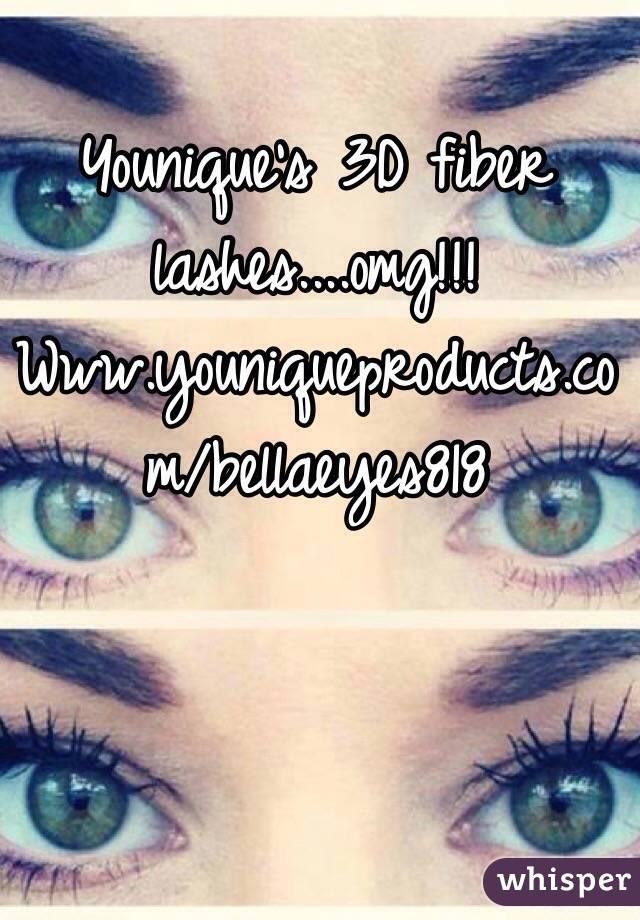 Younique's 3D fiber lashes....omg!!! Www.youniqueproducts.com/bellaeyes818