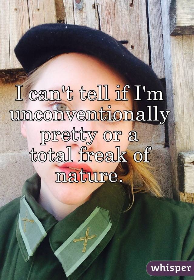 I can't tell if I'm unconventionally pretty or a total freak of nature.