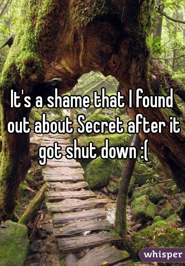 It's a shame that I found out about Secret after it got shut down :(