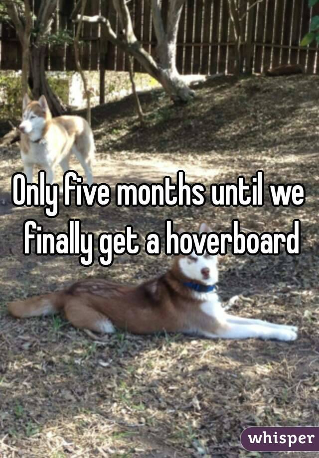 Only five months until we finally get a hoverboard