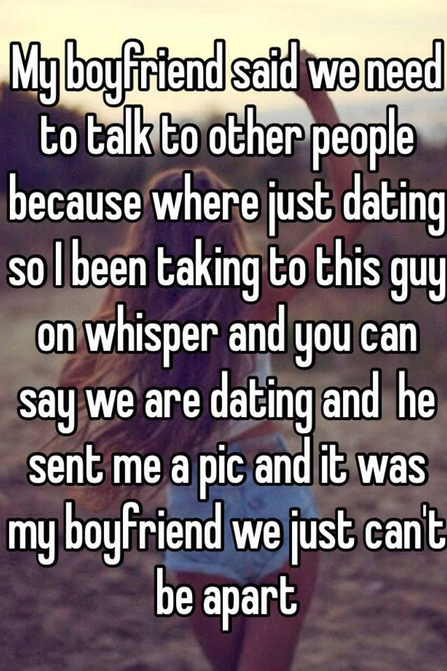 so what you re saying is we re dating