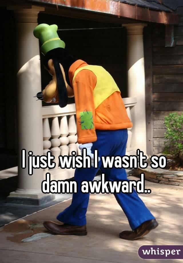 I just wish I wasn't so damn awkward..