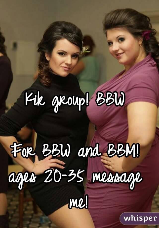 Bbw kik girls