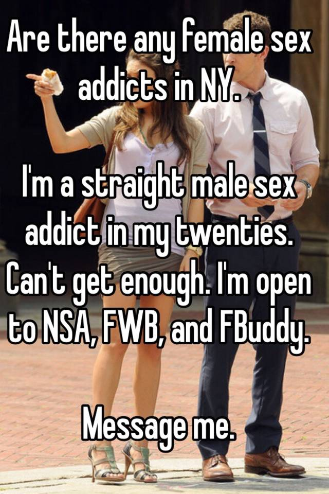 Im a female sex addict