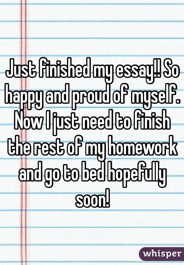 Help Me Finish My Essay