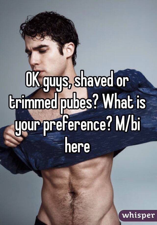 What should trimmed pubes look like