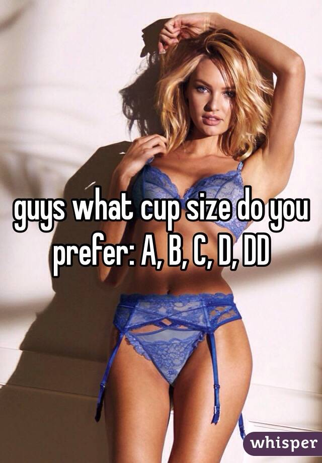 guys what cup size do you prefer: A, B, C, D, DD