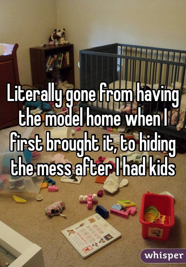 Literally gone from having the model home when I first brought it, to hiding the mess after I had kids