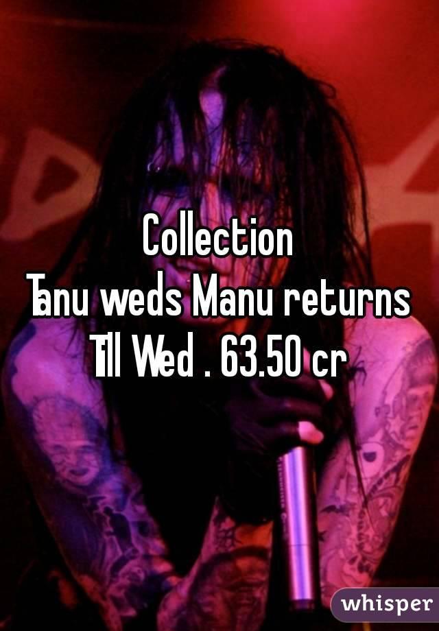 Collection Tanu weds Manu returns Till Wed . 63.50 cr