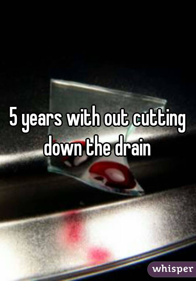 5 years with out cutting down the drain
