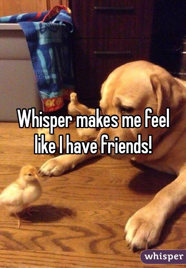 Whisper makes me feel like I have friends!