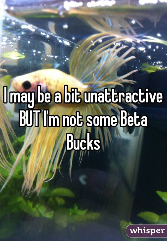I may be a bit unattractive BUT I'm not some Beta Bucks