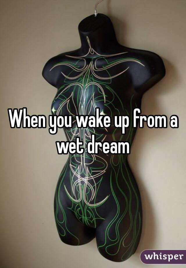 When you wake up from a wet dream
