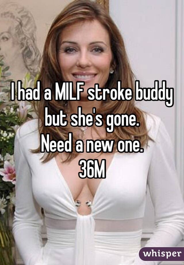 I had a MILF stroke buddy but she's gone.  Need a new one.  36M