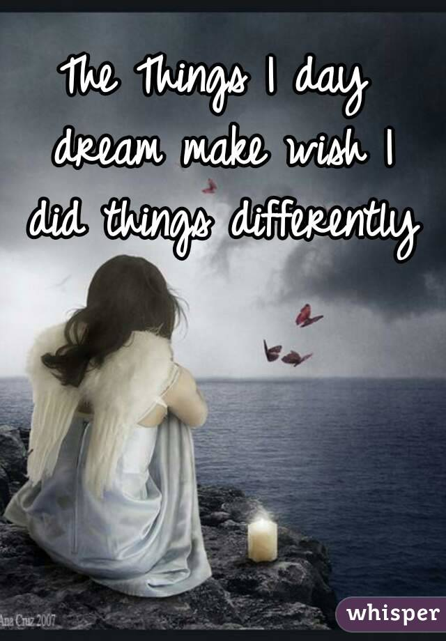 The Things I day dream make wish I did things differently