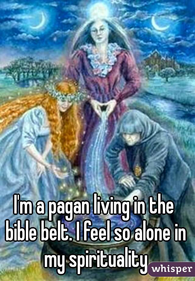 I'm a pagan living in the bible belt. I feel so alone in my spirituality