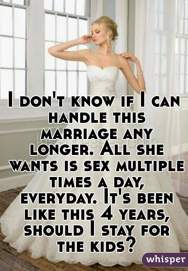 Sex multiple times a day