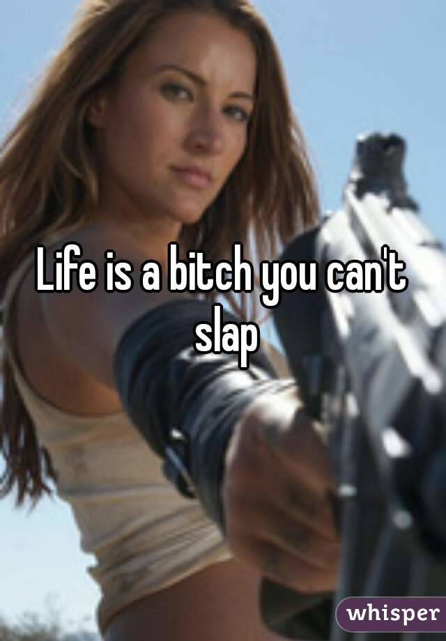 Life is a bitch you can't slap