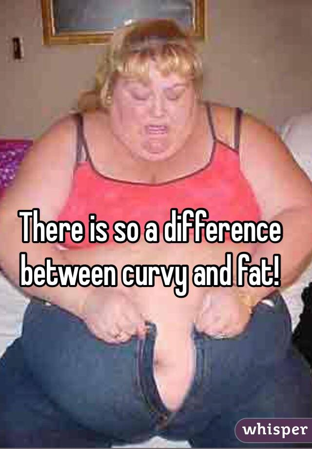 There is so a difference between curvy and fat!