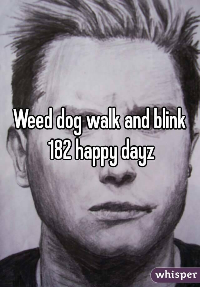 Weed dog walk and blink 182 happy dayz