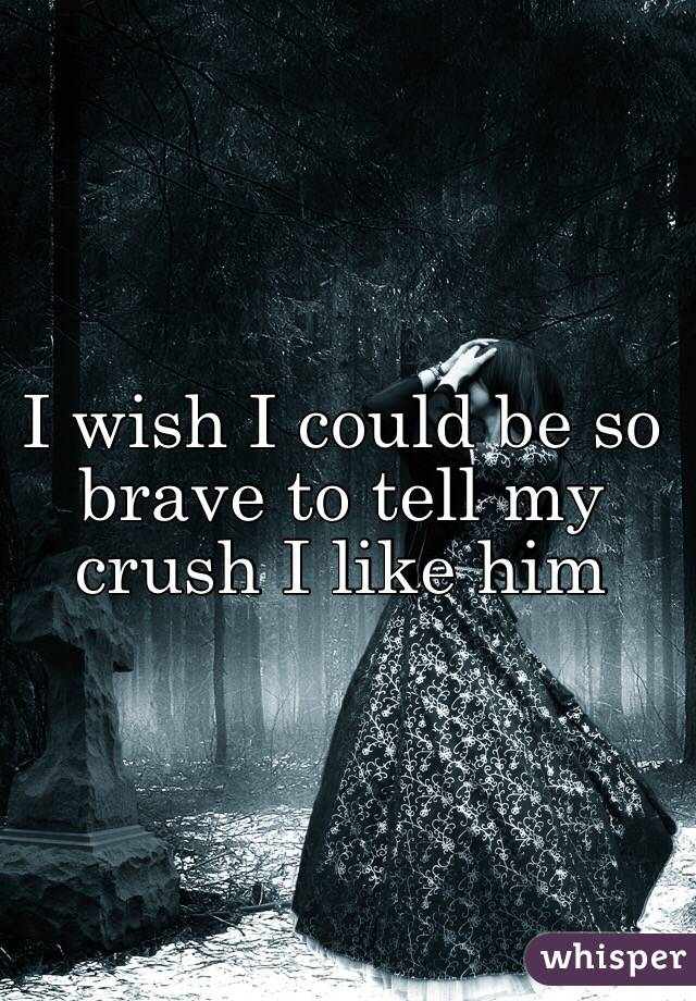 I wish I could be so brave to tell my crush I like him