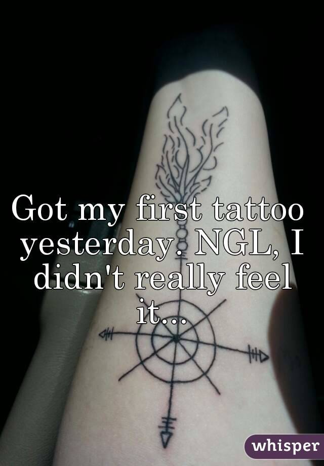 Got my first tattoo yesterday. NGL, I didn't really feel it...
