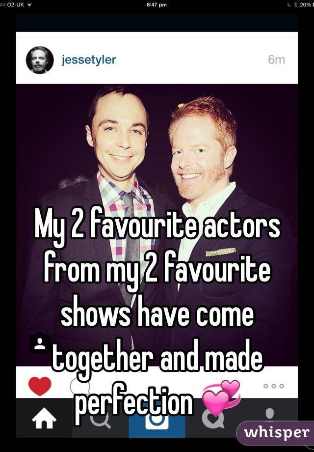 My 2 favourite actors from my 2 favourite shows have come together and made perfection 💞