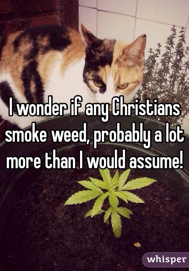 I wonder if any Christians smoke weed, probably a lot more than I would assume!