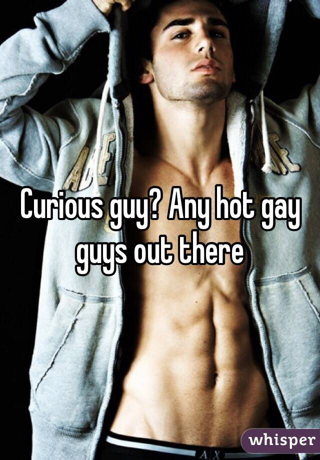Curious guy? Any hot gay guys out there