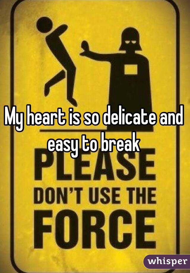 My heart is so delicate and easy to break