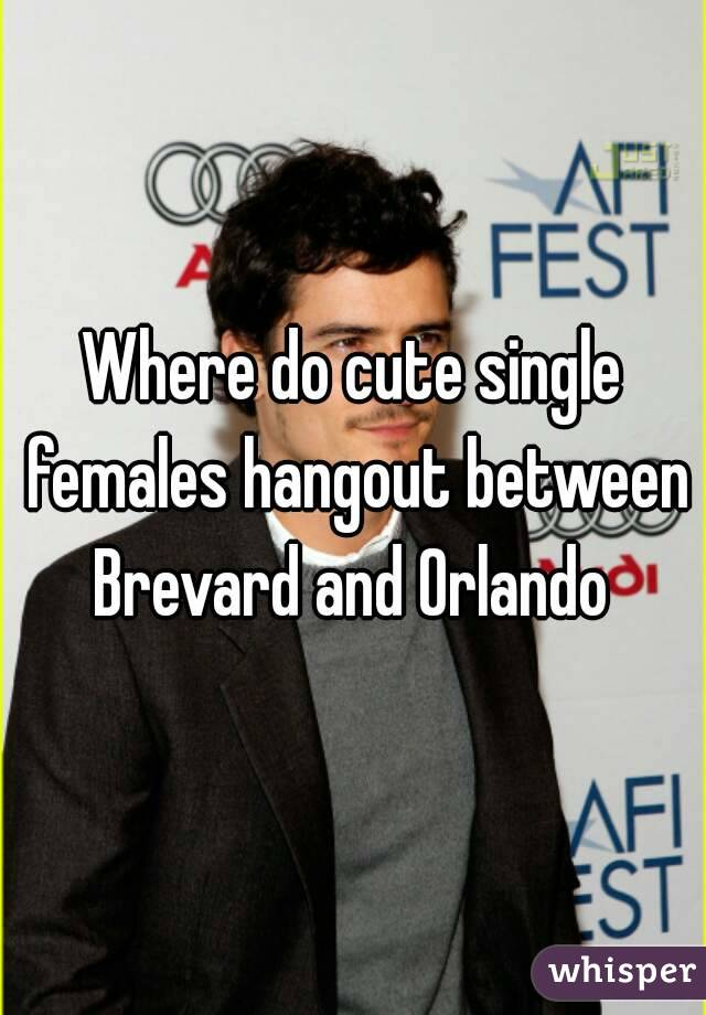 Where do cute single females hangout between Brevard and Orlando