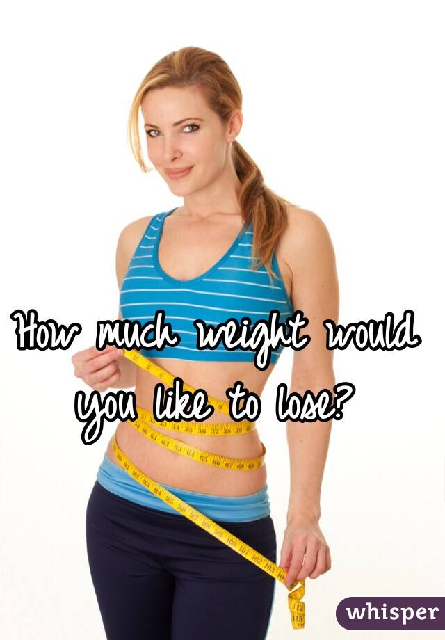 How much weight would you like to lose?