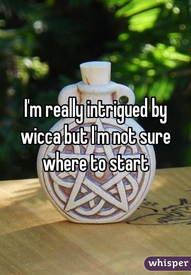 I'm really intrigued by wicca but I'm not sure where to start