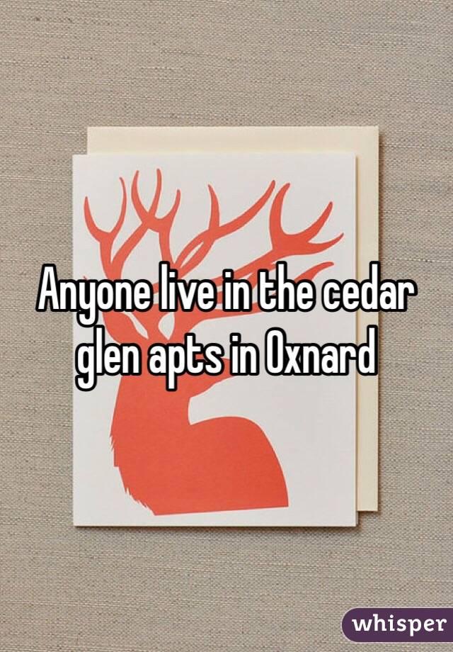 Anyone live in the cedar glen apts in Oxnard