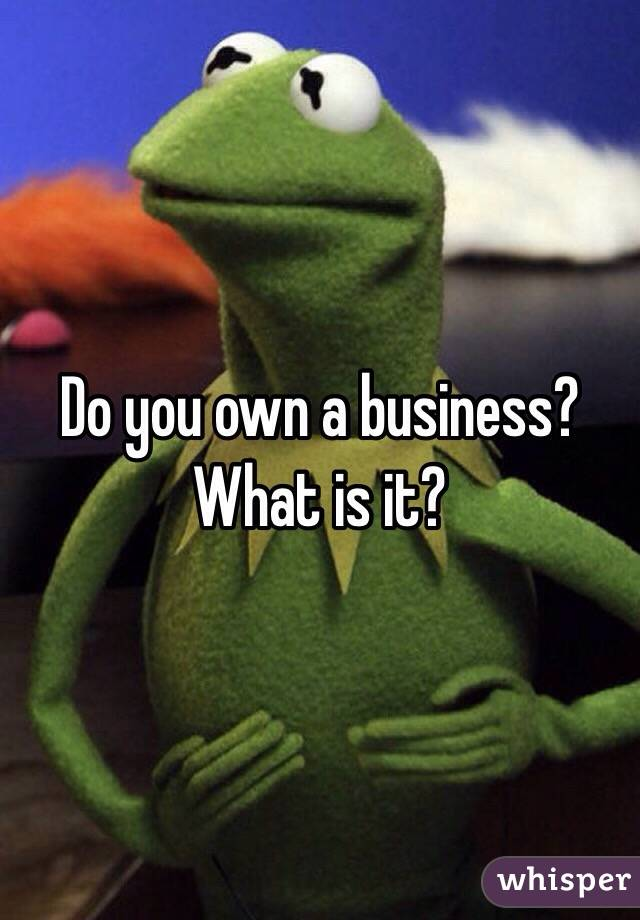 Do you own a business? What is it?