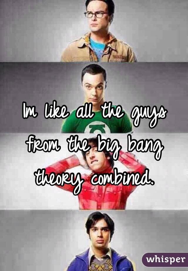Im like all the guys from the big bang theory combined.