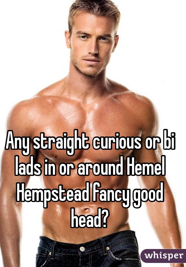 Any straight curious or bi lads in or around Hemel Hempstead fancy good head?