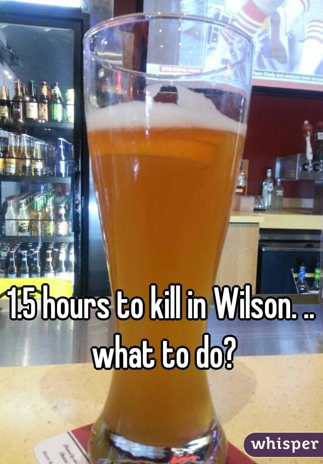 1.5 hours to kill in Wilson. .. what to do?