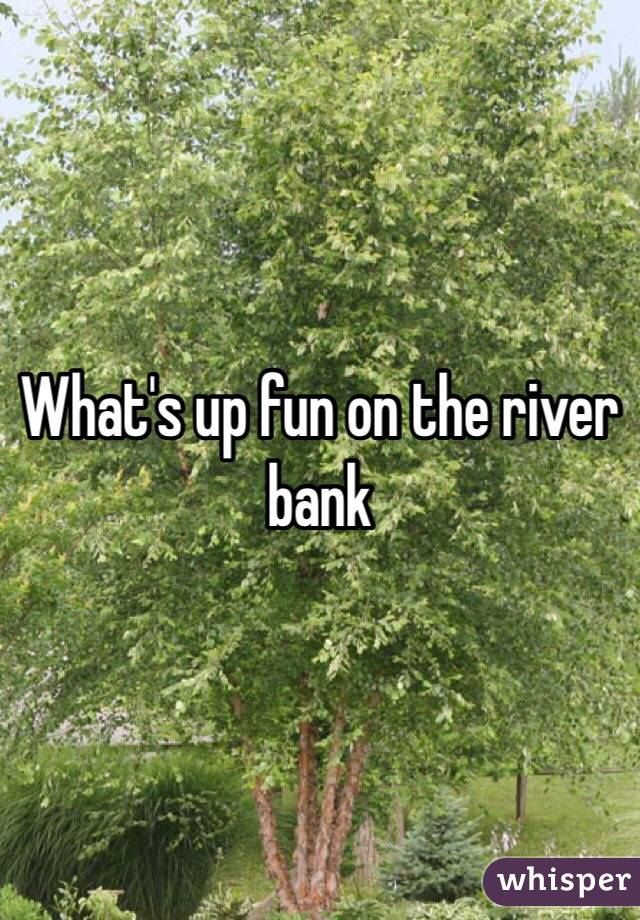 What's up fun on the river bank