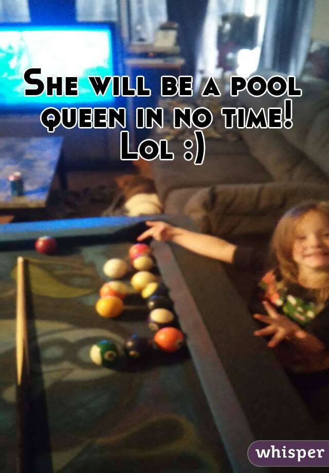 She will be a pool queen in no time! Lol :)