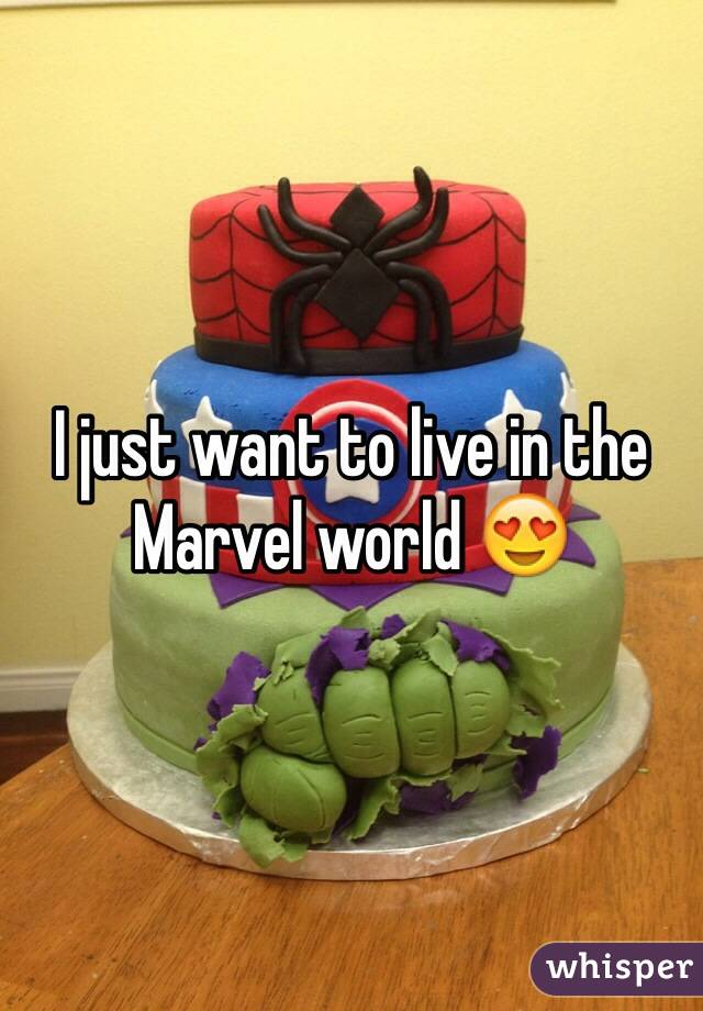 I just want to live in the Marvel world 😍