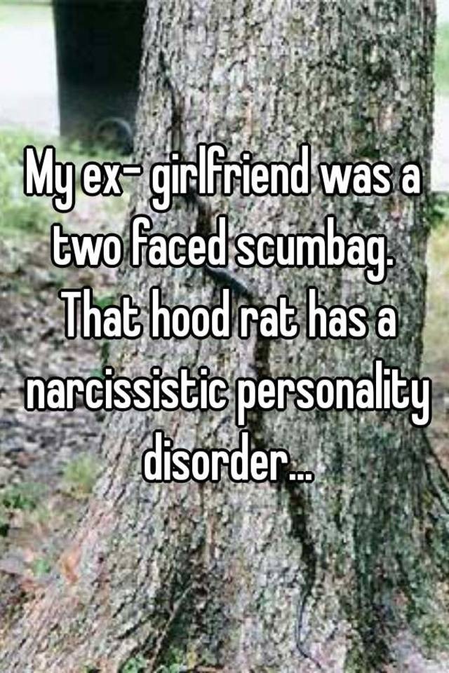 narcissistic ex girlfriend