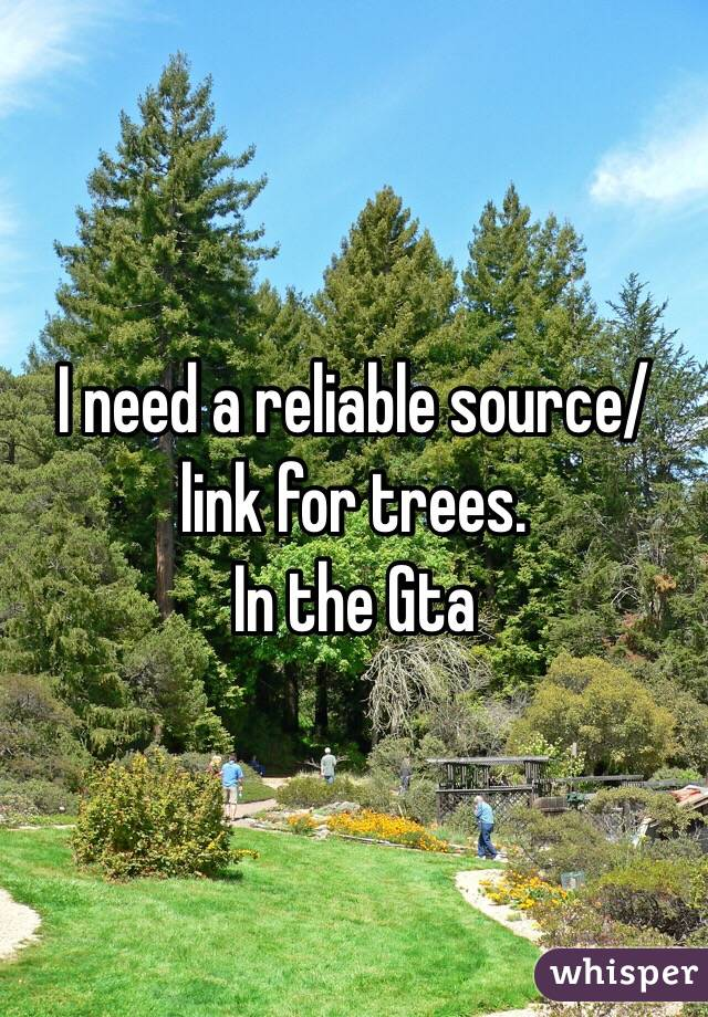 I need a reliable source/link for trees. In the Gta