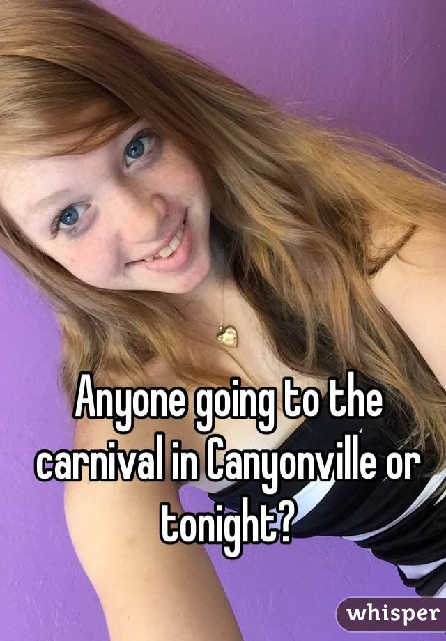 Anyone going to the carnival in Canyonville or tonight?