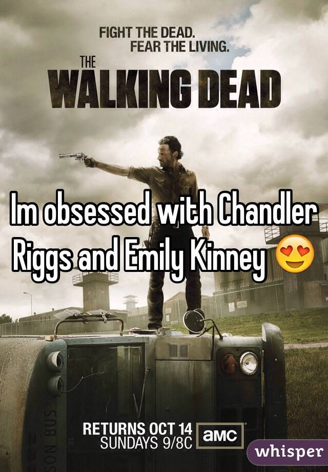 Im obsessed with Chandler Riggs and Emily Kinney 😍