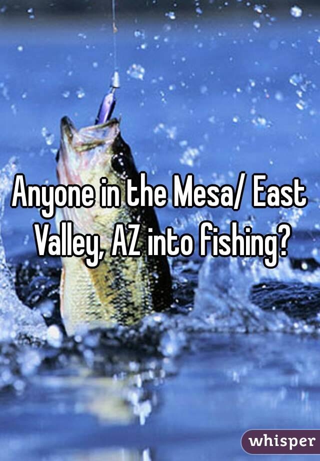 Anyone in the Mesa/ East Valley, AZ into fishing?