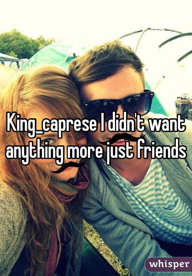 King_caprese I didn't want anything more just friends