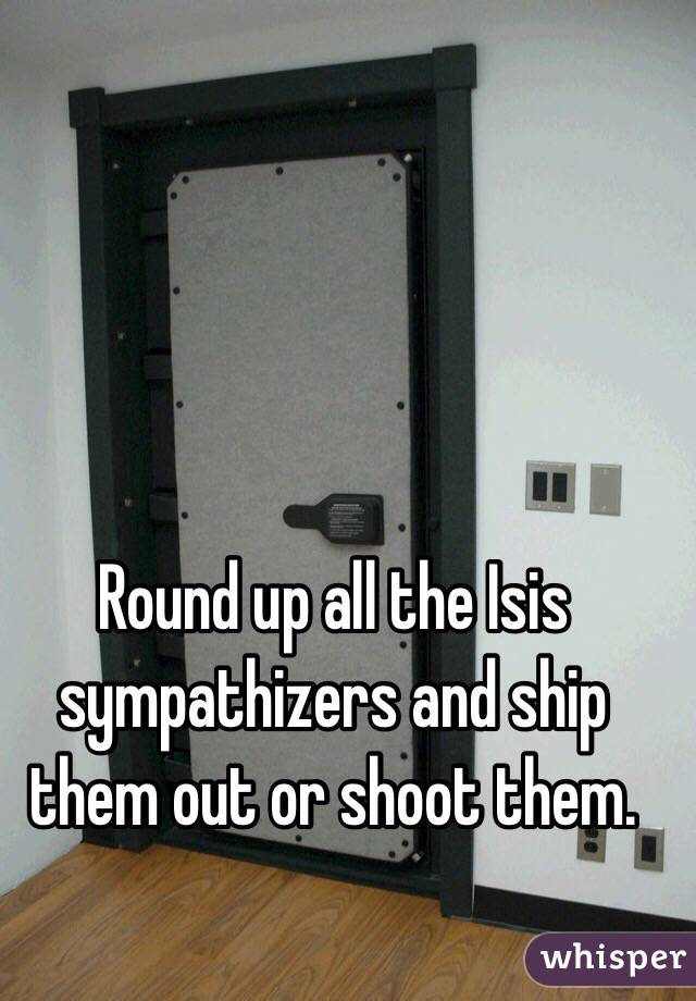 Round up all the Isis sympathizers and ship them out or shoot them.