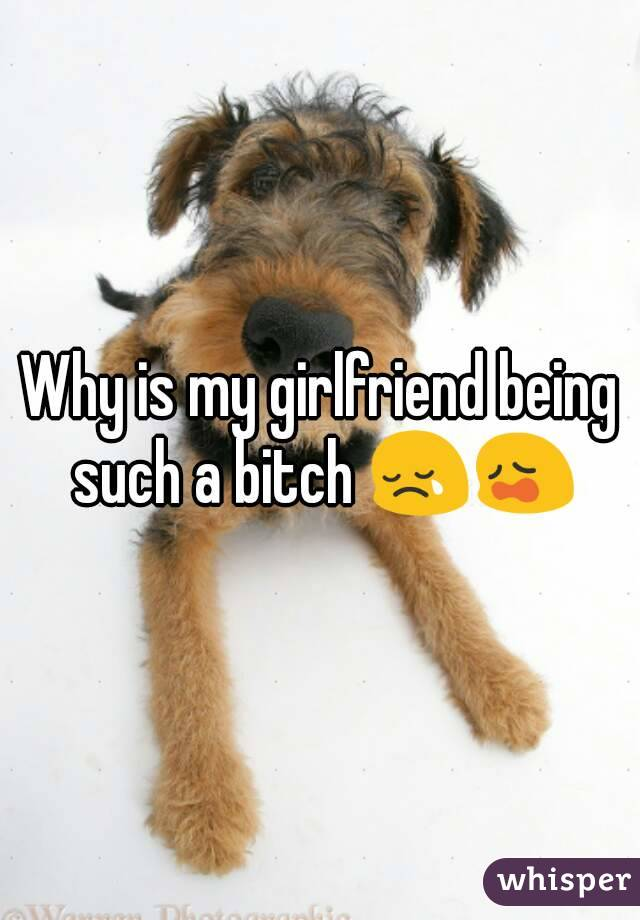 Why is my girlfriend being such a bitch 😢😩