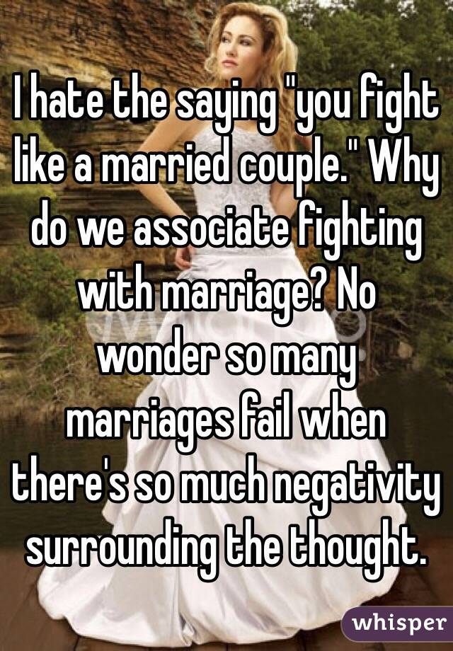 Why Do So Many Marriages Fail